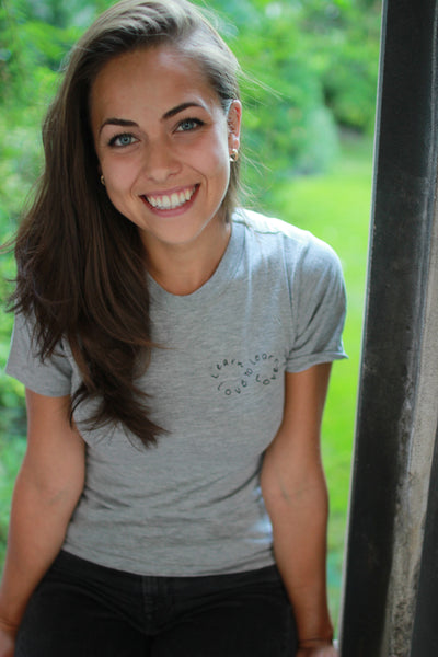 Christina Moro wears Learn to Love T-Shirt