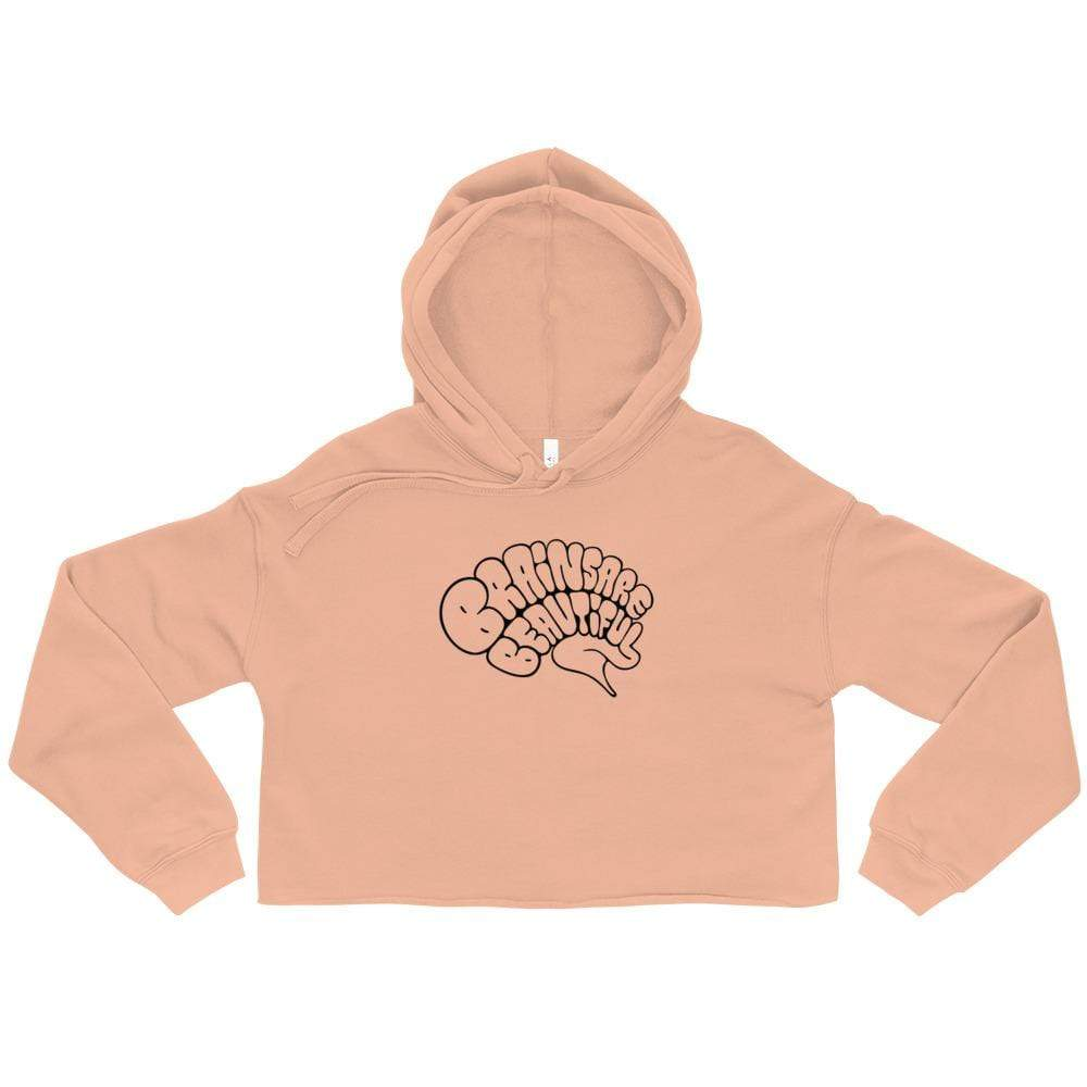 Brains are Beautiful - Crop Hoodie