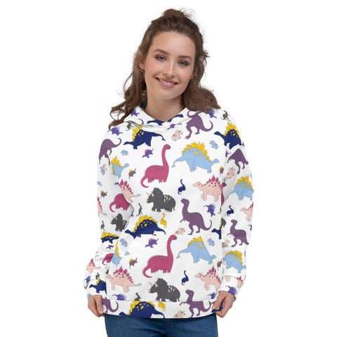 Dino-Mite Hoodie in White
