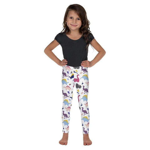 Dino-Mite - Kid's Leggings in White