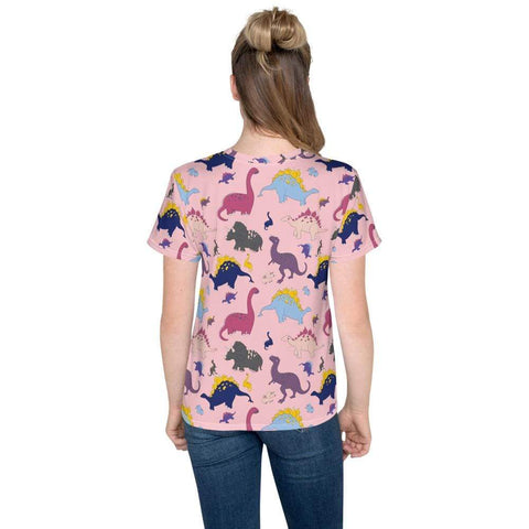 Dino-Mite Youth T-Shirt in Pink