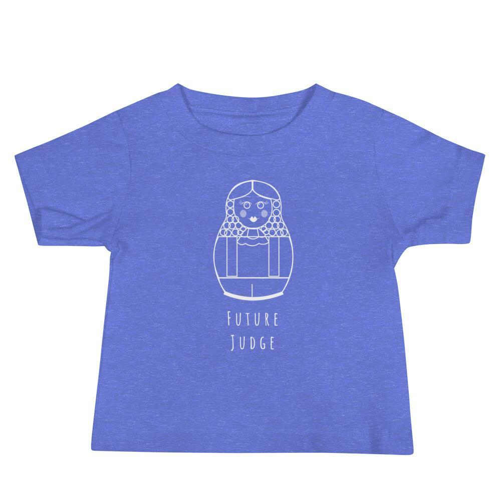 La Petite Écolière Baby Tee Heather Columbia Blue / 6-12m Future Police Officer by Julia Ravey - Baby Tee