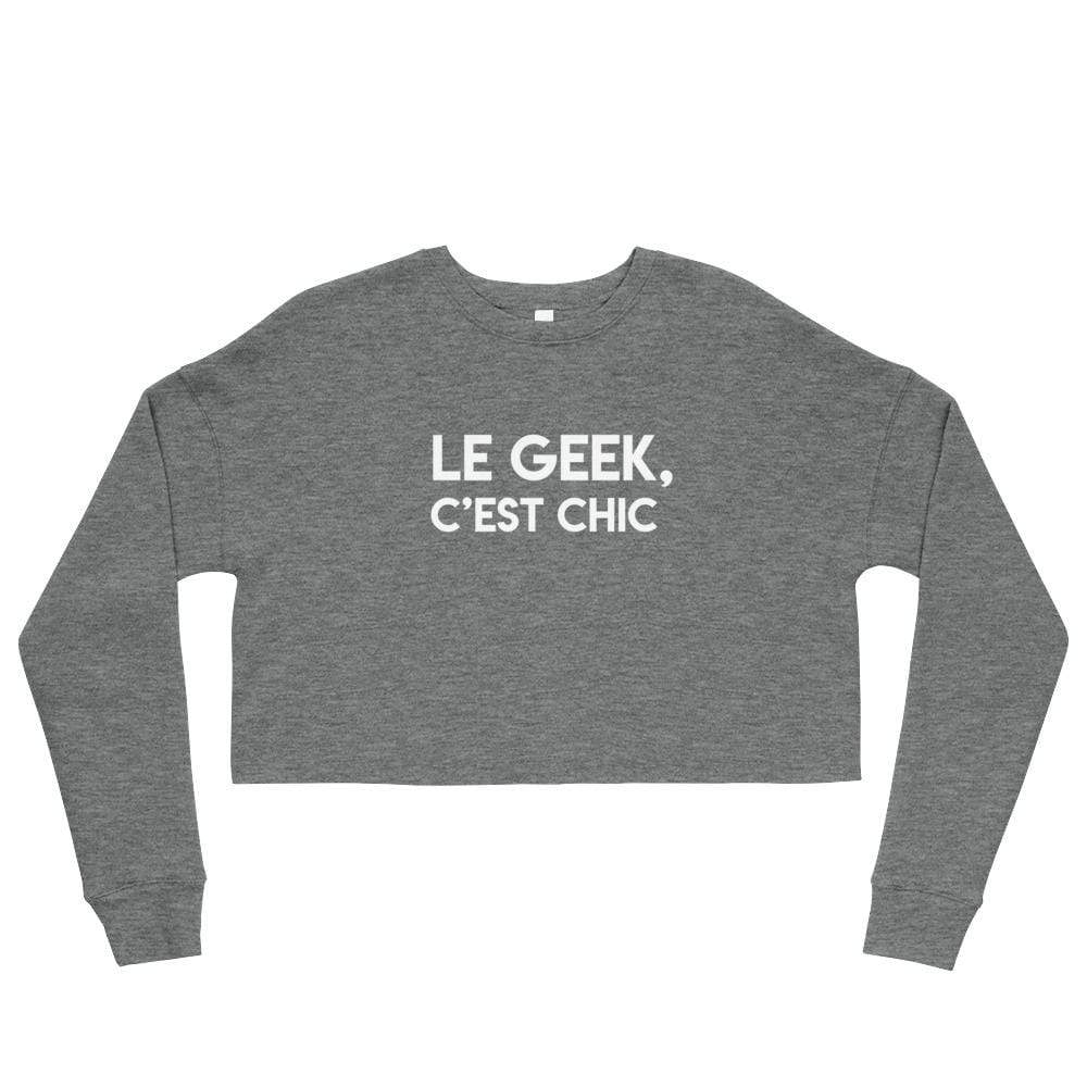 La Petite Écolière Crop Sweatshirt Deep Heather / S Geek Out - Crop Sweatshirt
