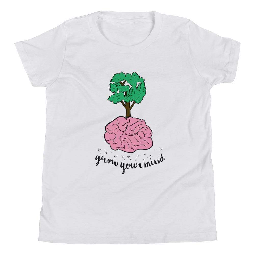 La Petite Écolière Youth T-Shirt White / S Grow Your Mind - Youth Tee