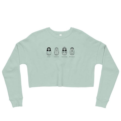 La Petite Écolière Crop Sweatshirt Dusty Blue / S STEM Gals by Julia Ravey - Crop Sweatshirt