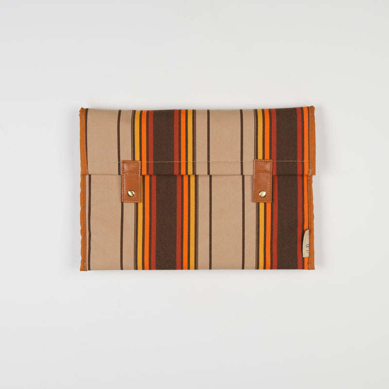 Brown Stripes Laptop Sleeve