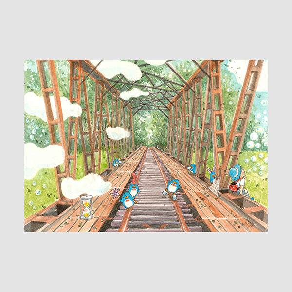 Singapore Old Railway A3 Print