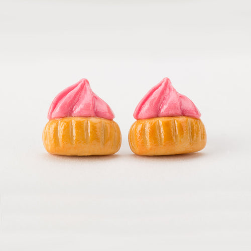 Ice Gem Biscuit (Pink) Ear Studs