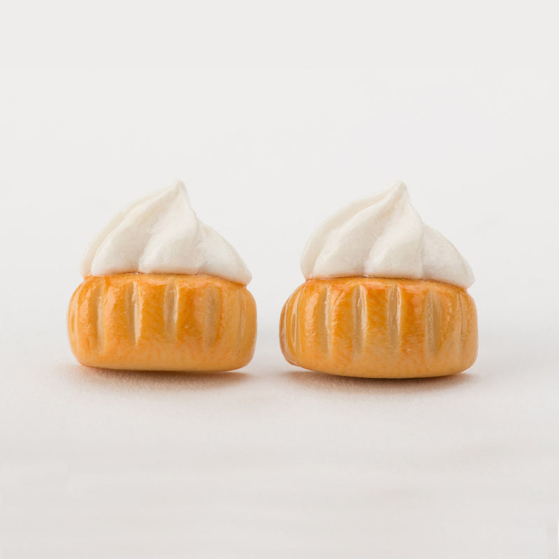 Ice Gem Biscuit (White) Ear Studs