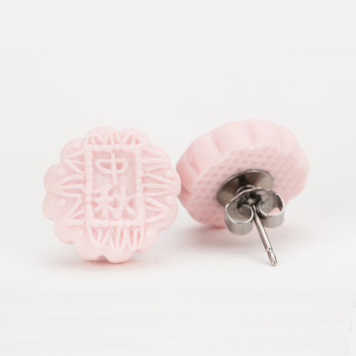 Mooncake (Pink) Ear Studs