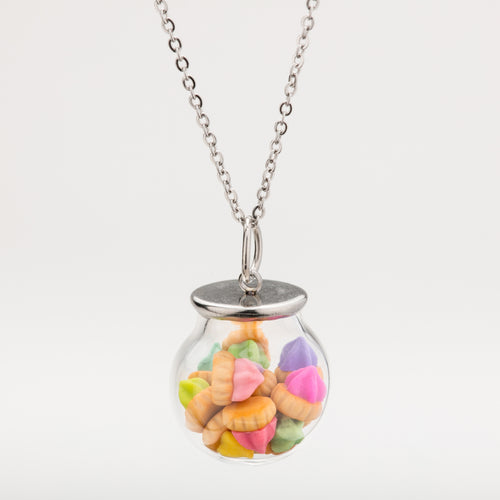 Multi-Colour Biscuit Globe Necklace