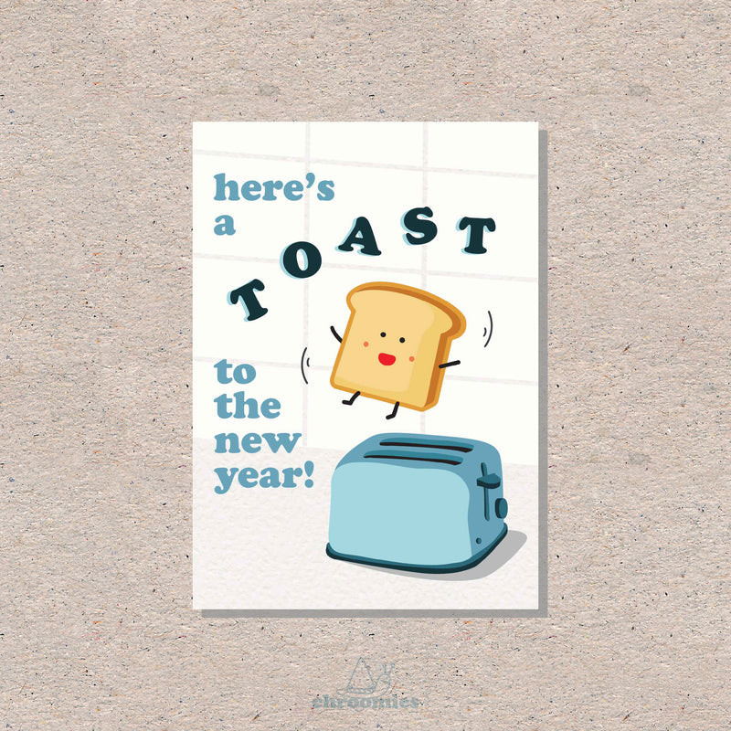 Toast to New Year Card