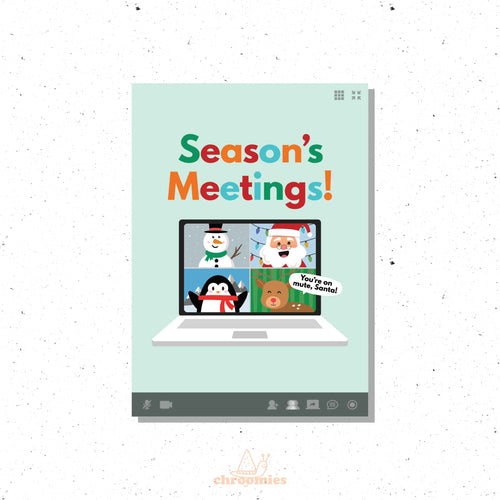 Season's Meetings Christmas Card