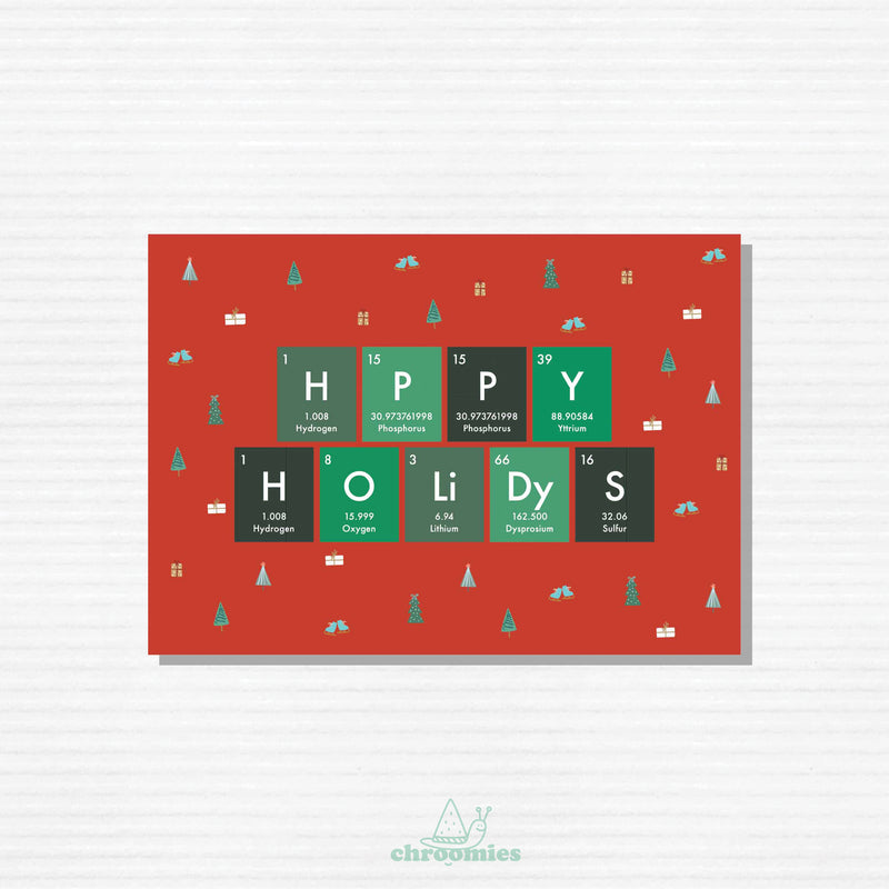 Periodic Table Holiday Card