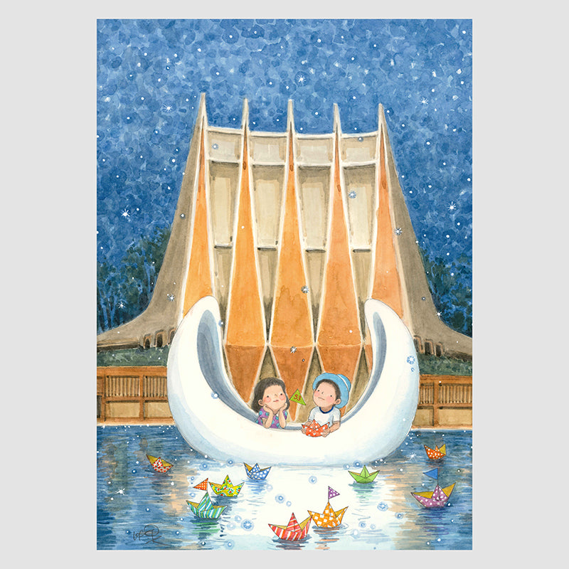 We Dream Upon The Moon (National Theatre) A4 Framed Print