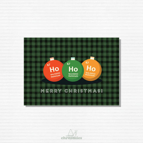 Chemical Compound Ho Ho Ho Christmas Card