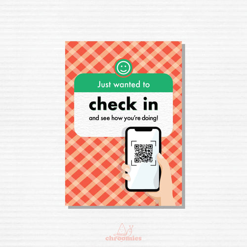 Check In Greeting Card