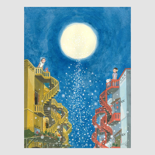 Moon Companion A4 Framed Print
