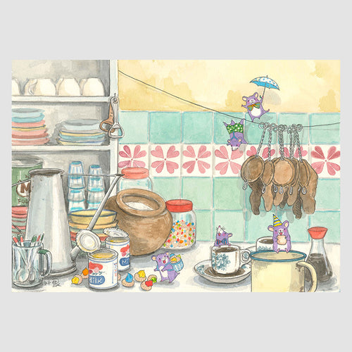A Fun Coffee Break A4 Framed Print