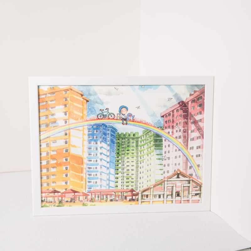 Rochor Center A4 Framed Print