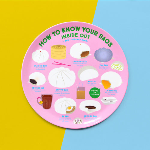 Know Your Baos Melamine Plate