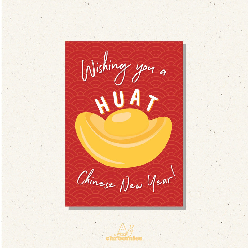 HUAT AH! Greeting Card