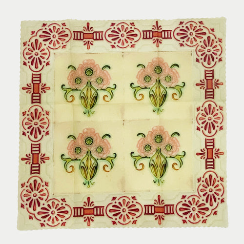 Peranakan Green Peranakan Tiles Beeswax Food Wrap