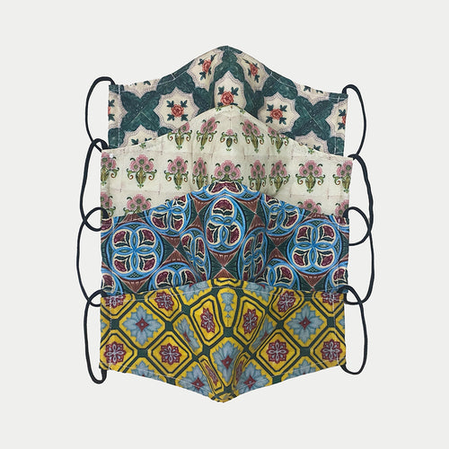 Peranakan Tile Antimicrobial Face Mask (Adult Sizes)