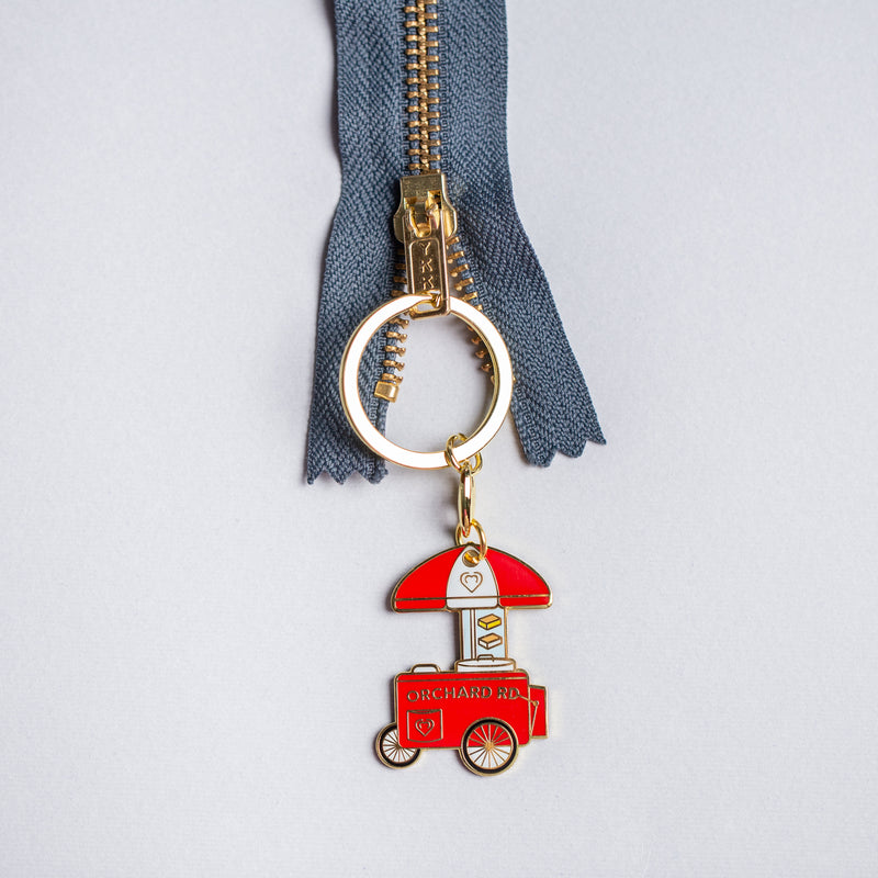 Orchard Road Ice Cream Cart Keychain
