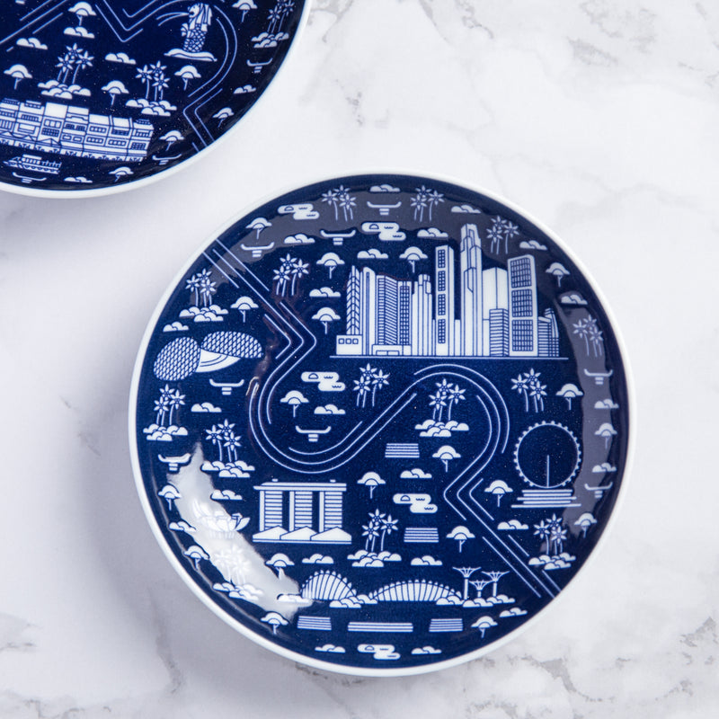 Marina Bay Architecture Porcelain Plate