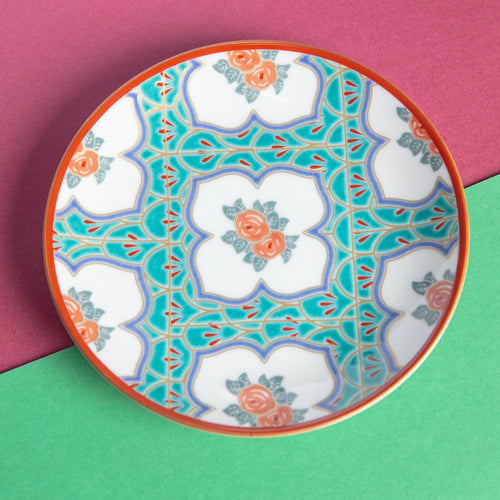 The Peranakan Rose Porcelain Plate (16cm)