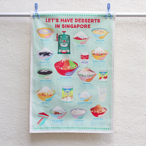 Singapore Desserts Tea Towel