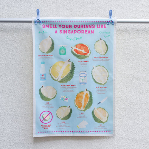 Smell your Durians Tea Towel