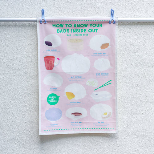 Know Your Baos Tea Towel