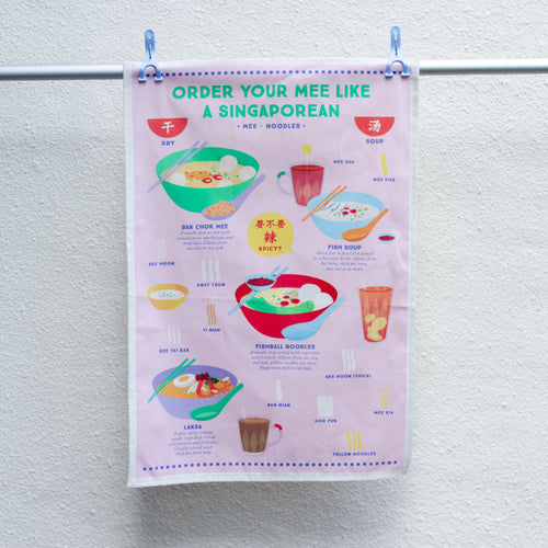 How to Order Noodles Tea Towel