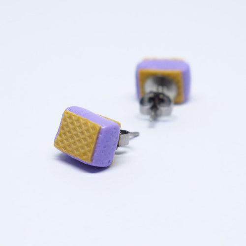 Ice Cream Sandwich (Lilac) Ear Studs