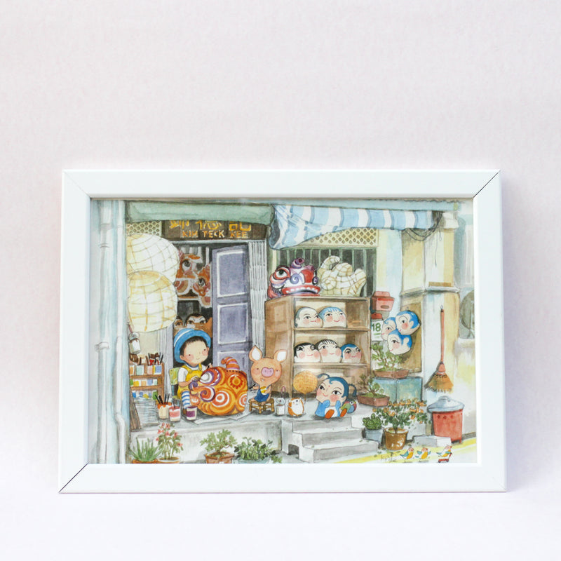Little Craftsman A4 Framed Print