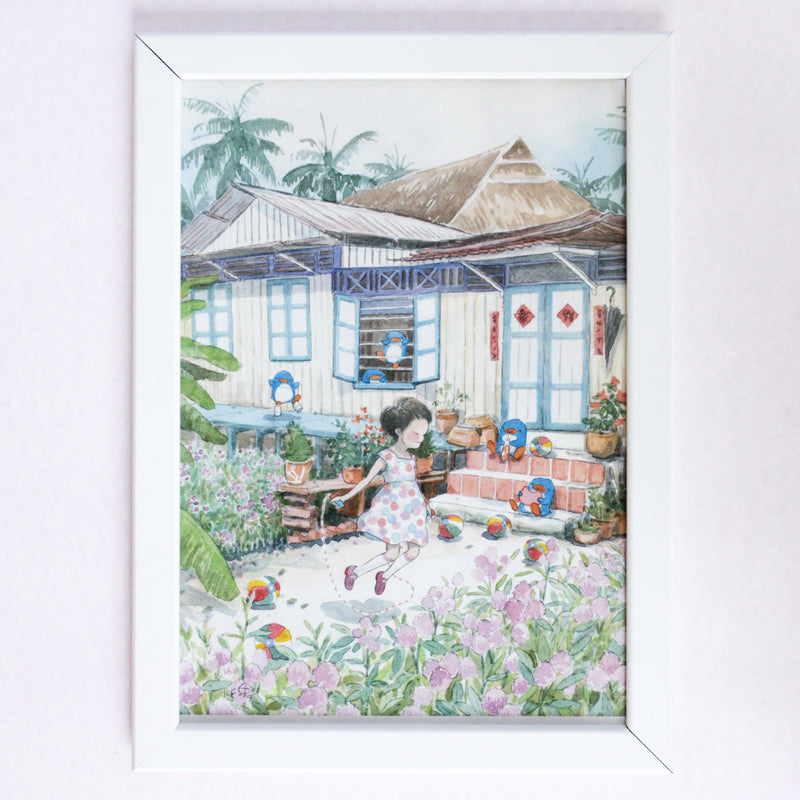 Kampong Fragrance A4 Framed Print