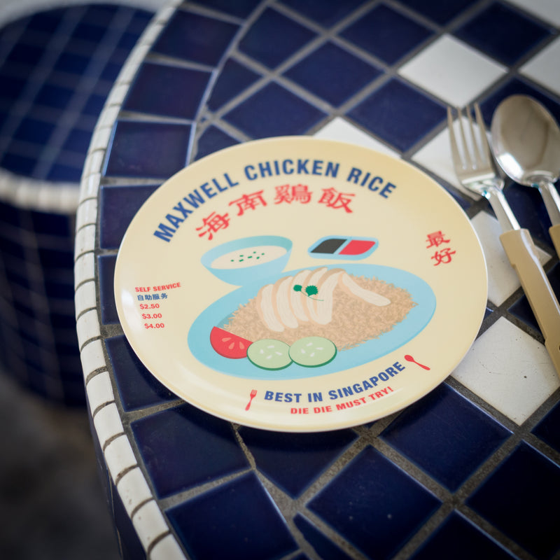 Chicken Rice Melamine Plate