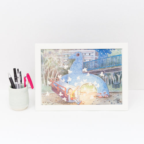 Dove Playground A4 Framed Print