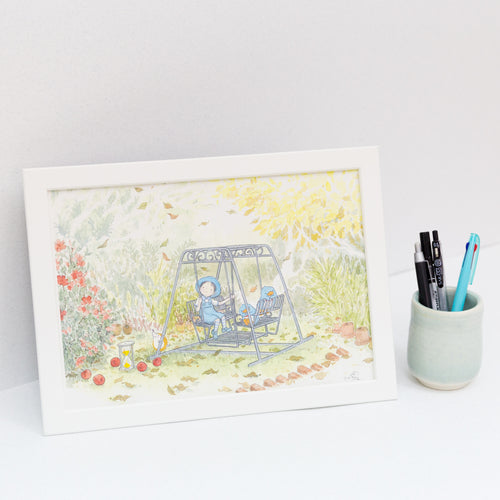 Swing A4 Framed Print
