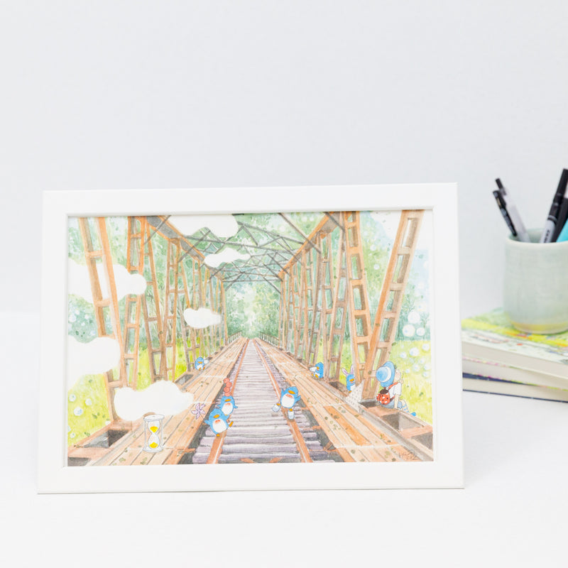 Singapore Old Railway A4 Framed Print