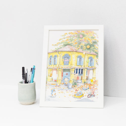 Club Street A4 Framed Print