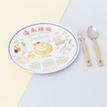 Chicken Rice Recipe Melamine Plate