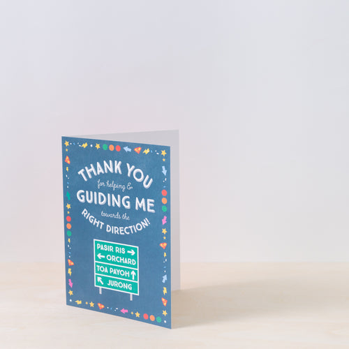Right Direction Thank You Card
