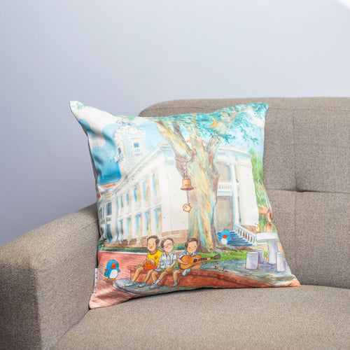 百年钟声 100 Years of Bell Ringing Cushion Cover
