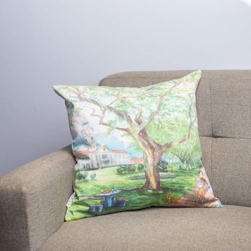 云树苍茏 Amidst Trees Strong and Tall Cushion Cover
