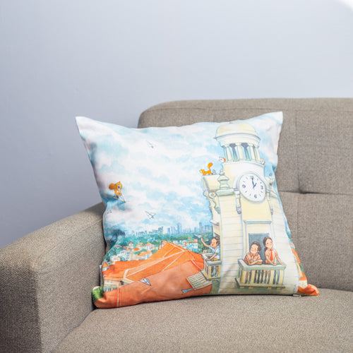 志向高远Go Higher, Aim Further, Dream Beyond Cushion Cover