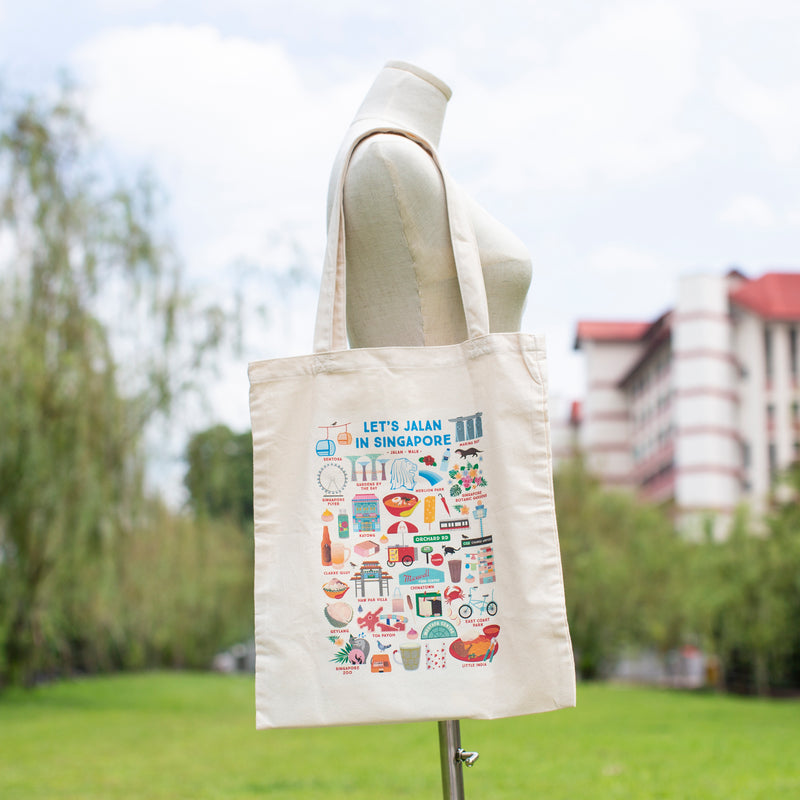 Let's Jalan in Singapore Tote Bag