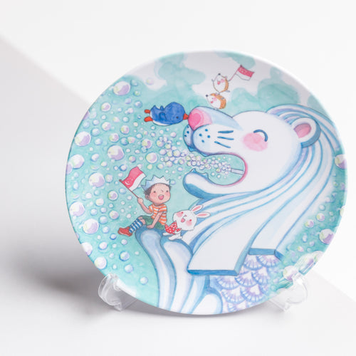 Merlion Big Love Melamine Plate
